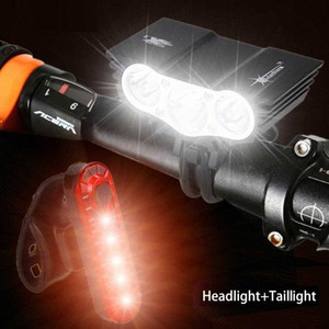 1800 Lm 3x XM-L U2 Led Bicycle cycling Light Front Cycling Light Headlight Lamp With 18650 Battery Pack Charger Headband PUSK#