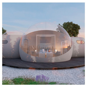 3M Outdoor Camping Aufblasbare Bubble Zelt Große DIY Clear House Home Backyard Camping Kabine Lodge Air Bubble Transparent Zelt