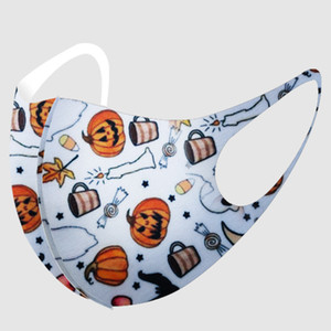 DHL face Halloween For Adult Christmas Mask Fashion Earloop pumpkin 3D Printing Anti-dust Breathable Washable Mask Party masks GWE1688