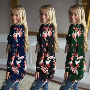 Casual Cardigan Hoodie Sweatshirts Women Floral Cardigans Spring Autumn New 2019