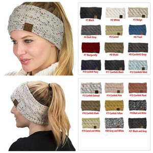 CC Knitted Headband Headwrap Hat Cap 21 Styles Women Hair Bands Crochet Twist Ear Warmer Headband Hair Accessories Big Kids Hats 20pcs E