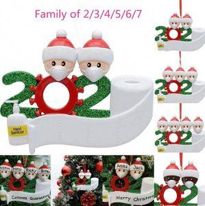 رخيصة في سوق الأسهم عائلة عيد الميلاد أعياد الميلاد الديكور هدية شخصية المنتج من 4.5.6.7 حلية جائحة التباعد الاجتماعي 2020 الأسود