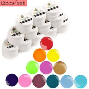 Hot Sale Soak off Painting Gel Pure 12Color LED UV Gel for Manicure Set Nail Design Paint Varnish Long Lasting Nail Polish Ink