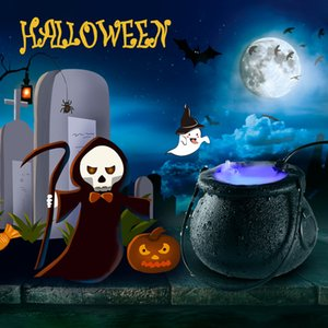 Fog Machine lighting popular model Halloween witch atomizer lamp decoration witch frosted pot Color Changing horror atmosphere scene layout
