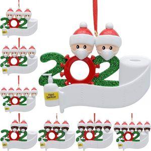 Noel Karantina kolye PVC DIY Adı Karantina Survivor Doll kolye 2 3 4 5 Doll Giyim Maskeler Süsleme