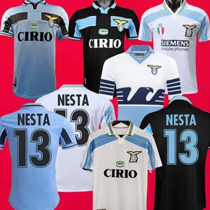 lazio Retro 1990 1991 1992 1999 2000 2001 1989 futbol formaları NEDVED Simeone SALAS Gascoigne ev uzakta futbol forması VERON CRESPO NESTA