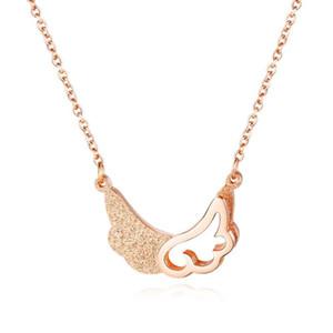 SHOWTIME de colliers de femmes longues chaînes EGirl choker boho bijoux aile en acier inoxydable de luxe or EGirl collier pendentif