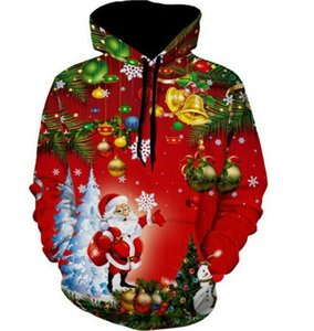 Fashion Unisex Christmas Theme 3D Teenager Hoodies Men Women Fashion Xmas Tree Printed Gift Sweatshirts 3D hoodie Pullover Tops Jackets