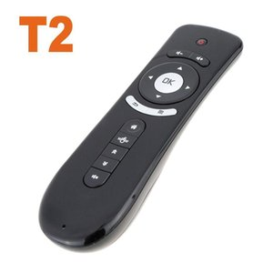 T2 Fly Air Mouse With Gyroscope Mini 2 .4g Wireless Keyboard Remote Control For Pc Tv Box 20pcs  Lot Free Dhl