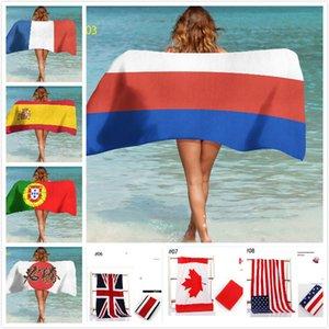 Coppa del World Beach Towel I fan di 150 * 70 Gu Tian Coniglio cotone personalità di nuoto di stampa bandiera inglese asciugamani Yoga Mat personalizzabile GWE1787