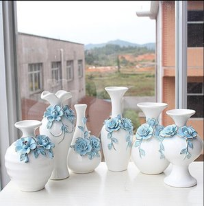 For Colors Ceramic Decor Tabletop Vase White With Home Green Frame Modern Wood Vase Shape Lucky bbyaC packing2010