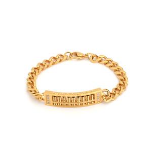 Aço inoxidável SOITIS Mulheres Homens Abacu Bangle Ouro Sliver cor decoração Popular Rhinestone Jewelry
