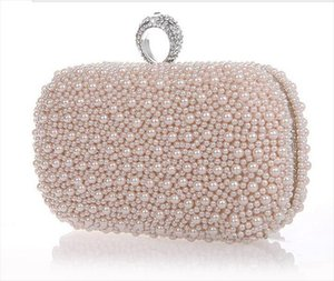 2014 Promotion Solid Bag Mini lt;20cm Interior Slot Pocket Hasp Women Hot Selling Pearl with Diamond Finger Cluth Evening Bag