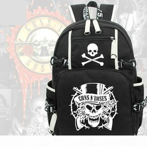 Guns N Roses backpack Gnr classic daypack Rock band schoolbag Music rucksack Sport school bag Outdoor day pack