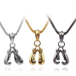 Мини оборудование для фитнеса Подвеска Double Бокс Боксерские перчатки ожерелье HipHop людей типа Gothic ожерелье ювелирных изделий вспомогательного оборудования подарков