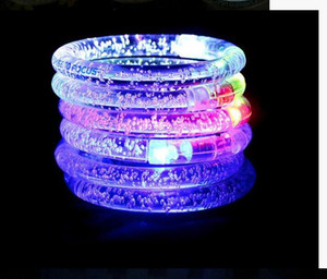 LED Flash Blink Glow Color Changing Light Acrylic Children Toys Lamp Luminous Hand Ring Party Fluorescence Club Stage Bracelet Bangle Xmas