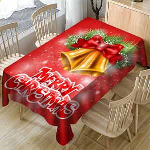 2020 Weihnachten Cartoon Big Bell Rechteck-Tisch Wasserdicht Ankunft Tuch Tisch Tisch Tuch-Abdeckung Kaffee neue Jahr-Geschenk