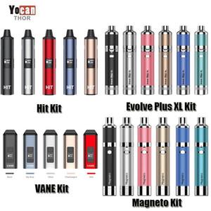 100% original Evolve YOCAN EVOLVE PLUS XL Magneto Hit Vanne Sèche Herbe Vaporisateur de vaporisateur de cire 1100 / 1400mAh Batterie Céramique Chauffage Céramique Vape Stylo authentique DHL