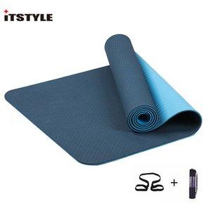 ITSTYLE TPE Yoga Mat 6мм Нет нескользящей йога коврик Фитнес центр Пилатес Colchonete Pad Спорт Мат