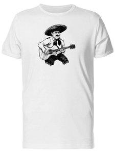 Mariachi messicani Grunge Sketch'S Tee Uomini -Image Con marchio di abbigliamento Tee Shirt