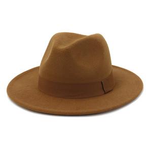 Men Women Vintage Wide Brim Fedora Hat with Belt Western Vaquero Faux Suede Cowboy Cowgirl Leisure Sunshade Hat
