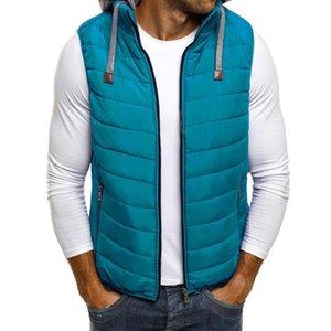 ZOGAA Inverno Parka Vest Jacket Para disjuntor homens encapuzados Parkas Homens Moda mangas de vento Brasão Outwear inverno Hoodies Zipper