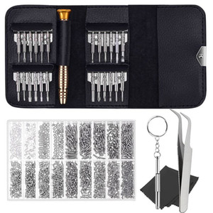 Eyeglass Repair Kit With 25Pcs Precision Eyeglass Screwdriver Set And 1000Pcs Glasses Screws For Eyeglasses Sunglasses Repair