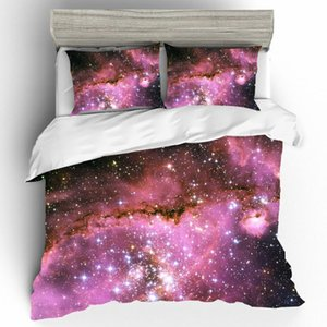Colorful Universe Starry Sky Printing Bed Linen Home Textile King Size Printing Bedding Set Bedding Cover Bed Sheets Pillowcases
