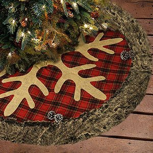 Рождественская елка юбка 36 дюймов Большого Burlap плед Снежинка с Толстым искусственным мехом край юбка Деревенского Xmas Tree Праздничных украшениями