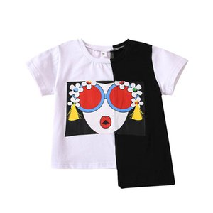 INS Summer baby girls T shirt cotton short sleeve kids T-Shirt Toddler Tee Shirt Fashion baby girl clothes girls shirt wholesale B2124