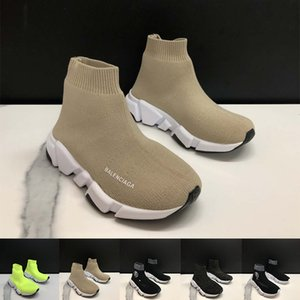 balenciaga shoes 2020 Shoes Moda Bebê Kids Socks Botas Crianças Deslizamento-On Casual Flats Speed ​​Trainer Sneakers Boy Girl alta-Top Running Shoes 24-35