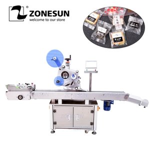 ZONESUN XL-T832 Automatic Sticker Adhesive Plane B Tag Paper Book Large Plastic Film Flat Packing Labeling Machine