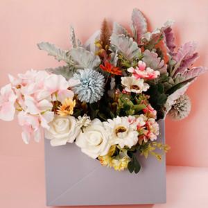 Envelope Fold Flower Storage Box Wedding Engagement Party Decor Polka Dot Stripes Printed Wrapping Gift
