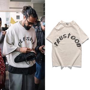 Sonntag ServIce Kanye West T Shirt Vintage Maxi-Printed-T-Shirts Männer Frauen Hip Hip Graffiti Short Sleeve Top T Street