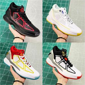 2020 새로운 D 로즈 (10) YR 데릭 화이트 블루 옐로우 블랙 레드 바운스 농구 신발 높은 Qaulity 10 초 남성 스니커즈 신발