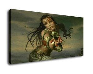 Art mermaid Oil Painting Print On Canvas Modern Wall Art Modular Wall Pictures For Living Room DecoB1901