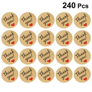 20 Blatt Thankyou Seals Gift Bag Scrapbooks Thanksgiving Day Aufkleber Dekoration Sealing für Gäste Familie