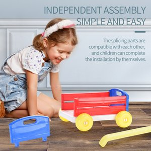 Kid Building block trolley toys Assemble block trolley Kid Assemble storage trolley toys Kid birthday Gifts