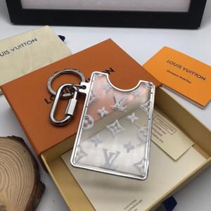 Mode Namenskartenhalter-Schlüsselkette erstaunliche Qualität Frauen Männer Edelstahl Schlüsselanhänger Schlüsselring Visitenkarte holdes Geschenk mit Box