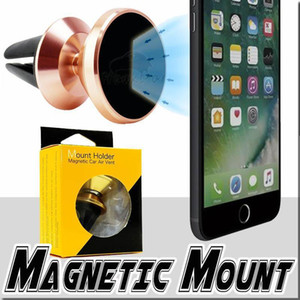 360 Degree Freely Rotating Aluminium Alloy Magnetic Car Air Vent Mount Phone Holder For Mobile Phone