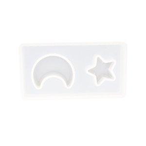 Ferramentas estrela de Lua translúcido Silicone Mold Fondant Mold Bolo decoração ferramentas Chocolate Cupcake gumpaste Moldes de cozimento
