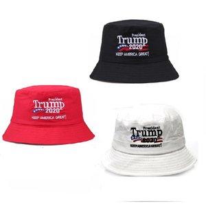 Дональд Трамп вышивки крышки шлемов ведра США Отпечатано Skeep АМЕРИКА ВЕЛИКАЯ ето козырька Travel Beach Fisherman Hat Головные уборы GWF1802