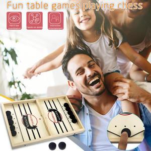 투석기 체스 범퍼 체스 부모 - 자식 대화 형 게임 표 데스크톱 배틀 2에서 1 아이스 하키 게임 장난감 테이블 하키