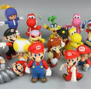 4.3Inch Original Super Mario Bros 20 Models Random Mix Action Figures Super Mario Doll Toys lol