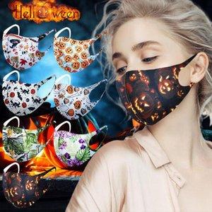 Cadılar Bayramı Yüz Maskesi 16 Stiller Noel Moda earloop Kabak 3D Baskı Anti-toz Nefes Yıkanabilir Noel Baba CYZ2764 Maske Maskesi