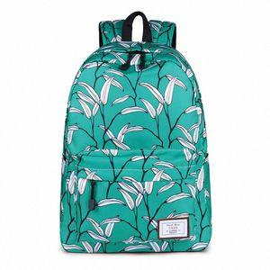 Canvas Student Boobag School Backpack Large Capacity Laptop Backpack Travel Rucksack Daypack Girls Boys Unisex Mochila uQjS#