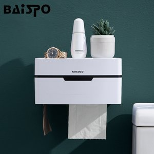 BAISPO creativo Punch libero supporto di carta igienica impermeabili Tissue Box portatile da bagno Storage Box Per la casa Accessori per il Bagno