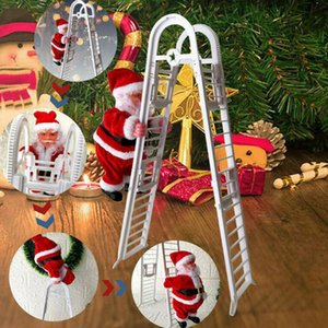 New Christmas Santa Claus Electric Climb Ladder Hanging Doll Decoration Christmas Tree Ornaments Xmas Toys Kids Gifts CYZ2752 Sea Shipping
