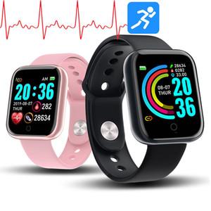 Y68 الذكية ووتش للمرأة D20 برو الرجال ساعة ذكية لضغط أبل IOS الروبوت رصد معدل ضربات القلب الدم الرياضة المقتفي الاسورة