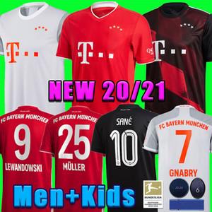 Bayern Munich 20 21 maillot de football SANE LEWANDOWSKI HERNANDEZ Gnabry MULLER Maillot de foot Homme + enfants mis 120e uniforme MUNCHEN 2020 2021